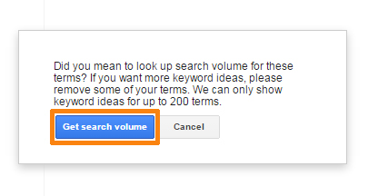 Get Exact Search Volume