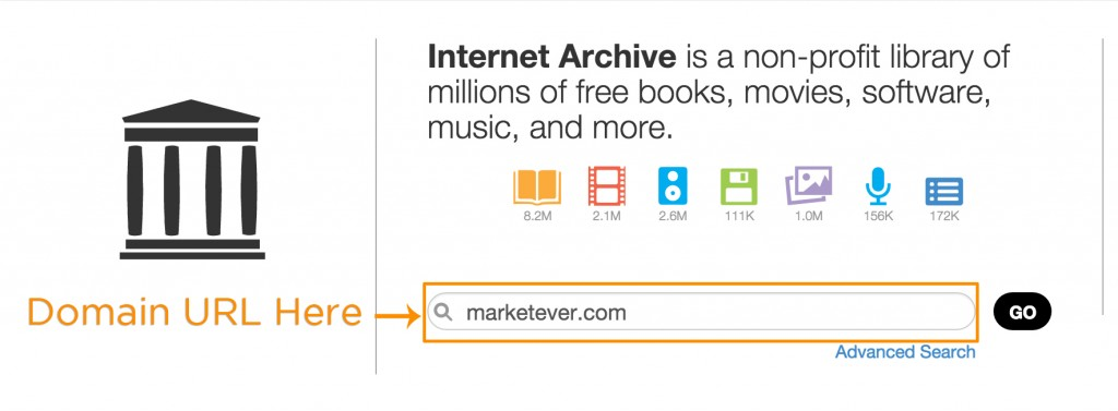 Archive.org domain name history search