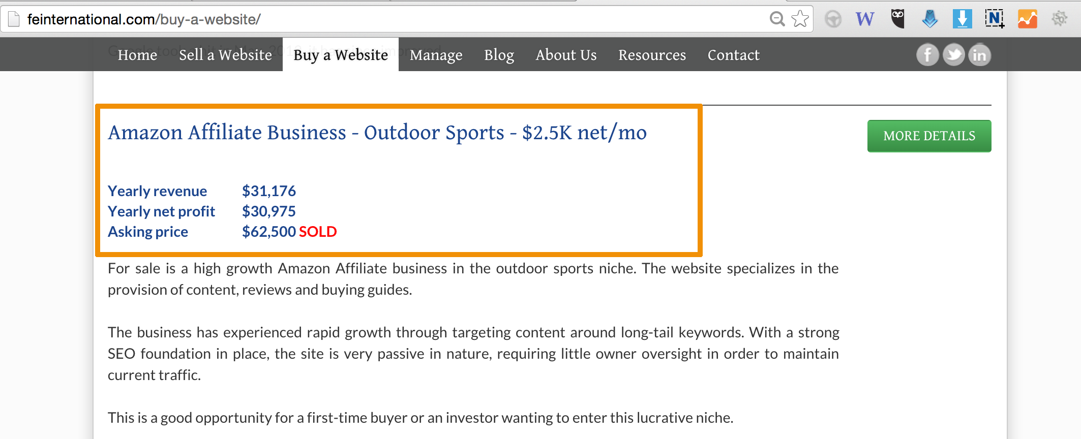Niche Site Selling By Al-Amin Kabir